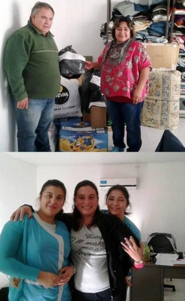 ENTREGA DE DONACIONES DE TRENEL A LA MARUJA