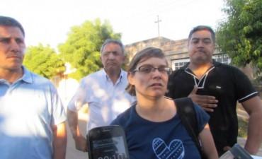 La fiscal HERNANDEZ hizo declaraciones a la prensa sobre el caso de femicidio en Trenel