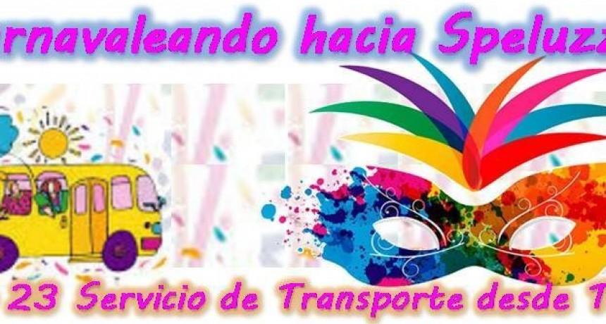Servicio de transporte de Trenel a Speluzzi SÁBADO 23