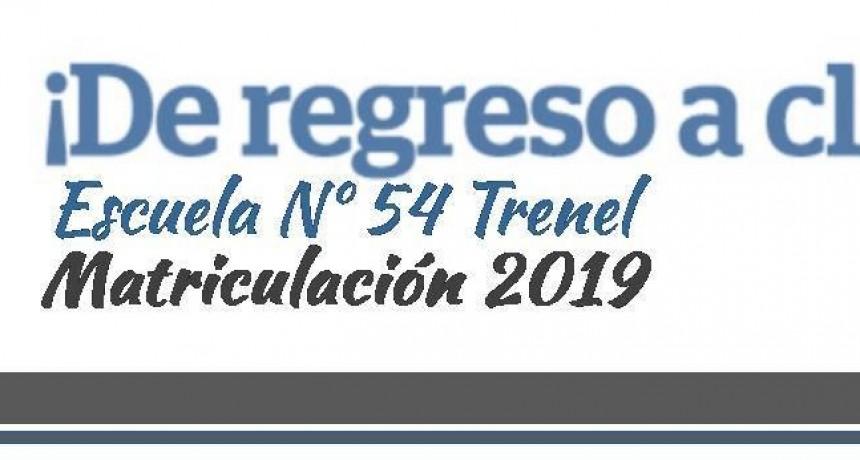 MATRICULACION ESCUELA Nº 54 - CICLO LECTIVO 2019