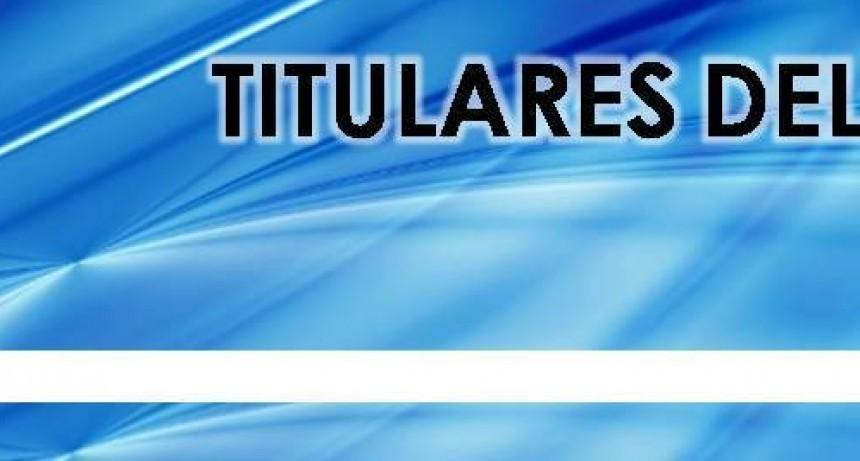 - TITULARES DEL MEDIODÍA -
