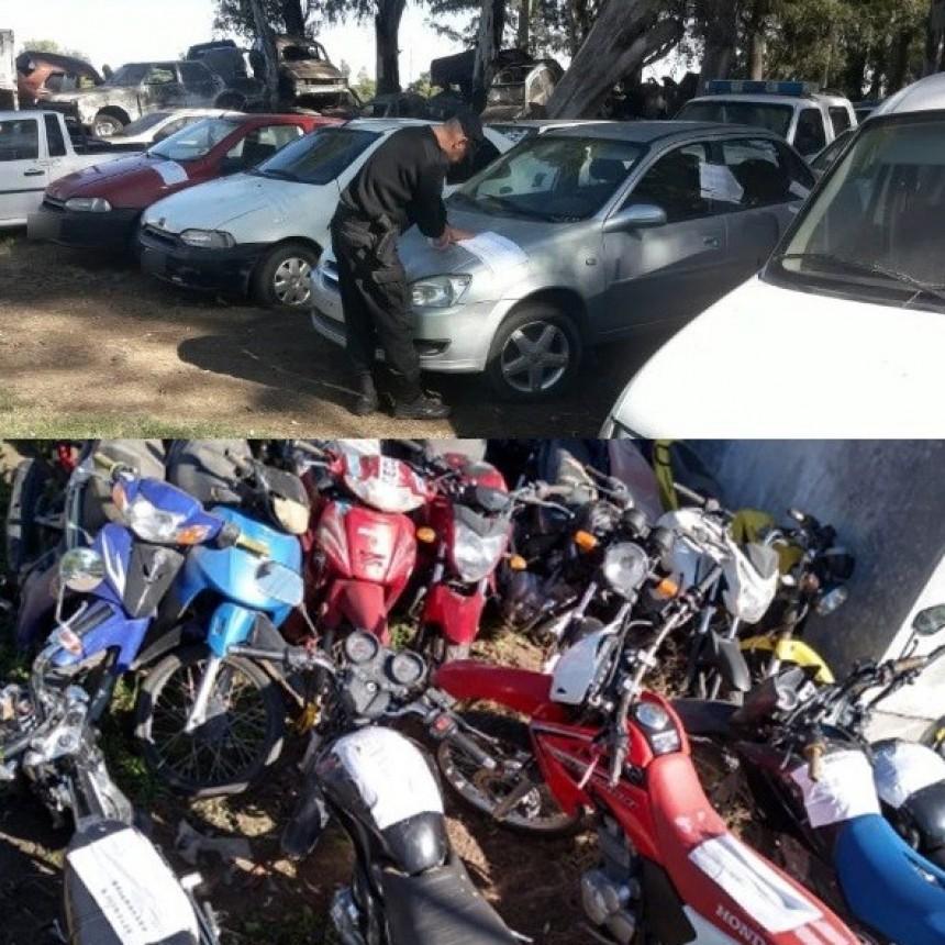 116 vehículos secuestrados en cuarentena son trasladados a la playa judicial