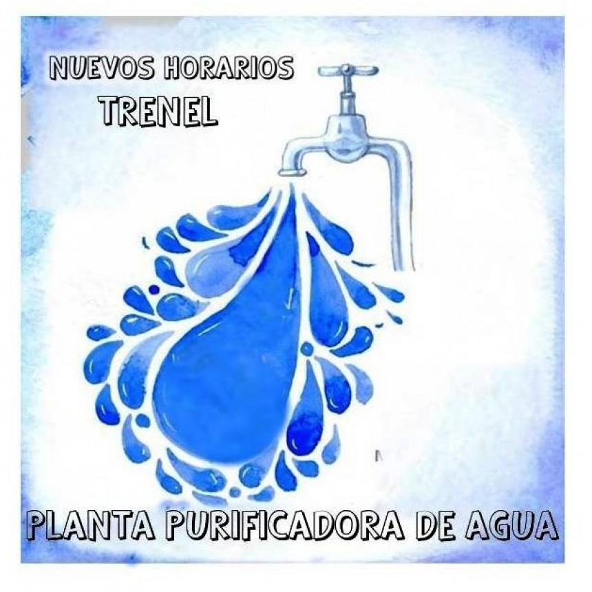 NUEVOS HORARIOS PLANTA PURIFICADORA DE AGUA DE TRENEL
