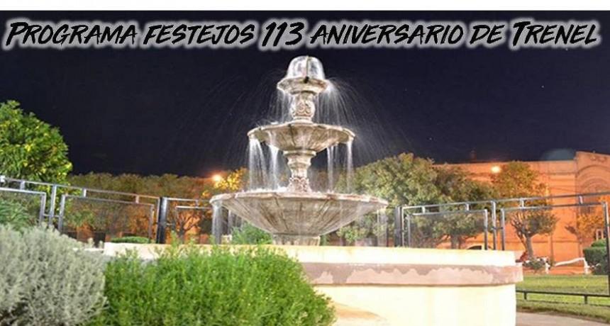 SE PRESENTÓ EL PROGRAMA DE FESTEJOS DEL 113 ANIVERSARIO DE TRENEL