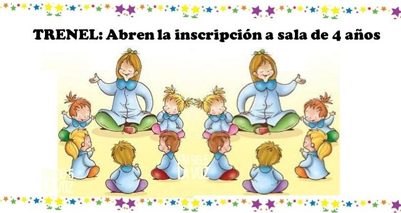 TRENEL ABREN LA INSCRIPCIÓN PARA LA SALA DE 4 AÑOS