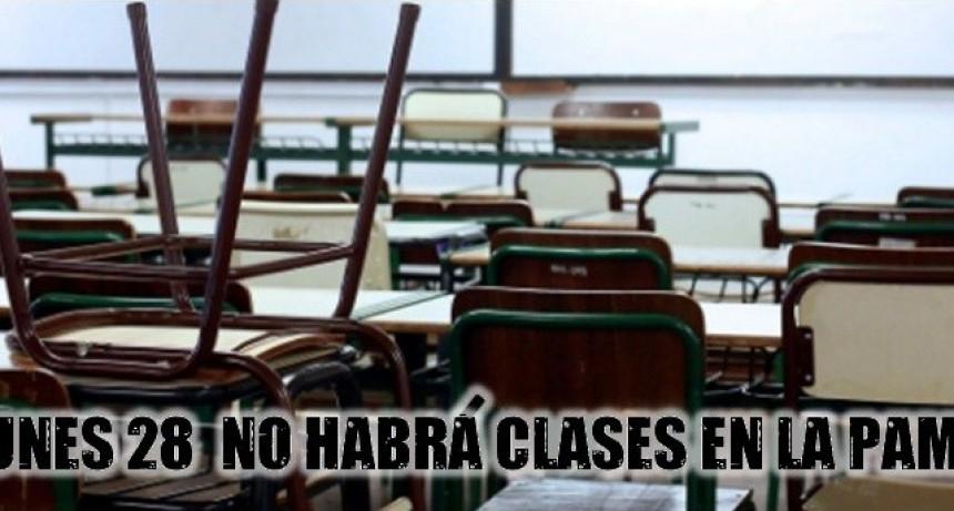 POR JORNADA NO HABRÁ CLASES EL LUNES EN LA PAMPA