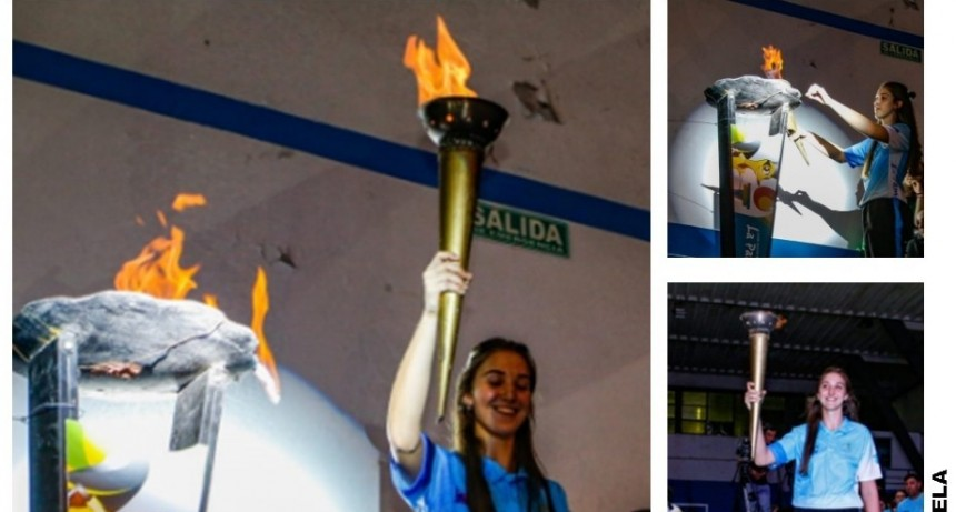 Balbanera Ulla encendió la antorcha de los Juegos de la Araucanía
