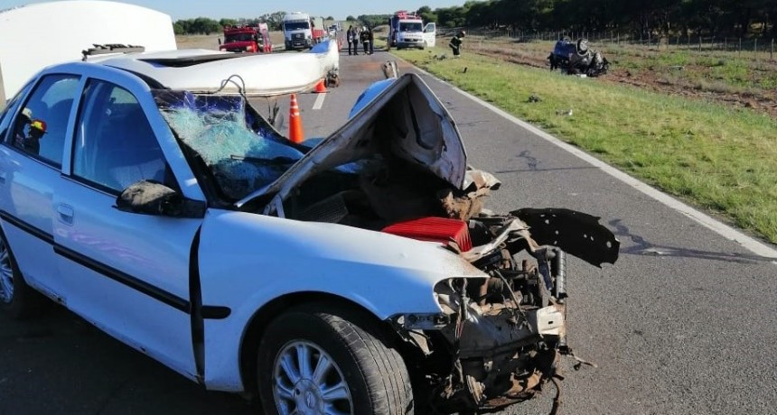 ACCIDENTE EN RUTA NACIONAL 35 - CHOQUE ENTRE PAMPEANOS